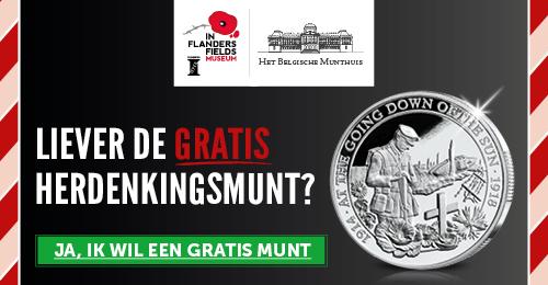 GRATIS munt In Flanders Fields Museum