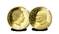 Koop munten online - Gouden munt - 100e verjaardag Paus JP II - 1/10 oz vz-en-kz