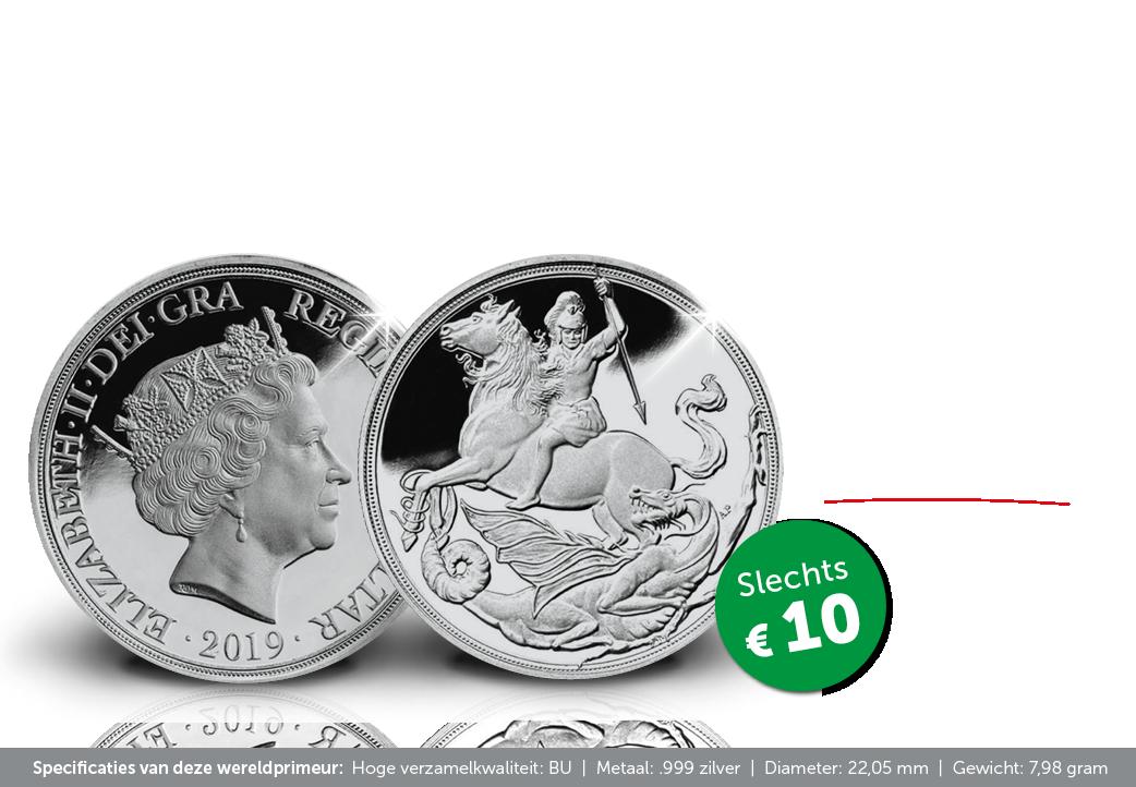 Unieke kans! De eersteNu beschikbaar: de allereerste Soeverein ter wereld in puur zilver.  Een wereldprimeur! zilveren Soeverein ooit!