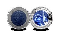 Koop munten online - Titanium munten - Eerste mens in de ruimte
