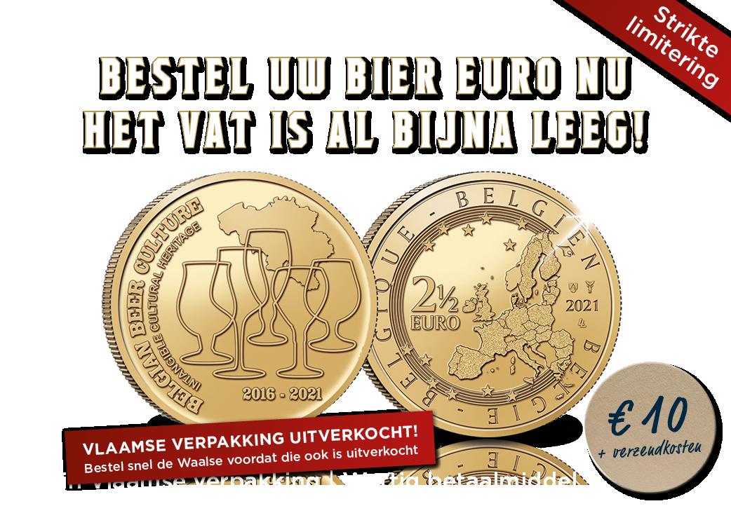 2,5 Euromunt 5 jaar Belgische biercultuur