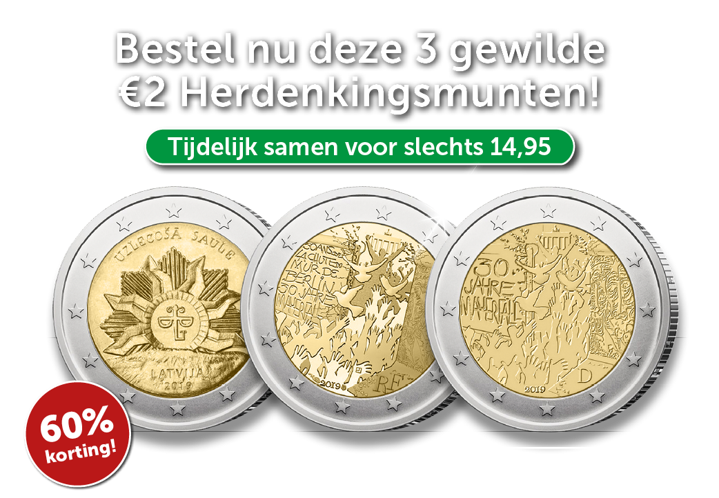 Deze euromunten vindt u niet in uw portemonnee!