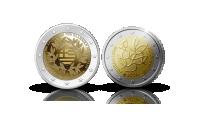 Koop munten online - Euromunten - 2 gelimiteerde, €2-Herdenkingsmunten voorzijdes