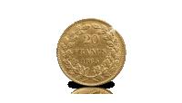 20 frank 1865, Leopold I, gouden munt, Koninklijk Belgisch Goud van Weleer
