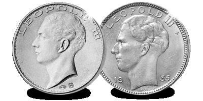 Voor het eerst verenigd in 1 set!: De 20 franken van Leopold III in zilver