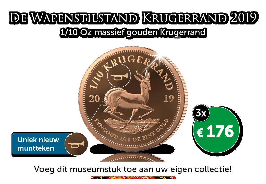 Historische nieuwe 1/10 Oz Krugerrand