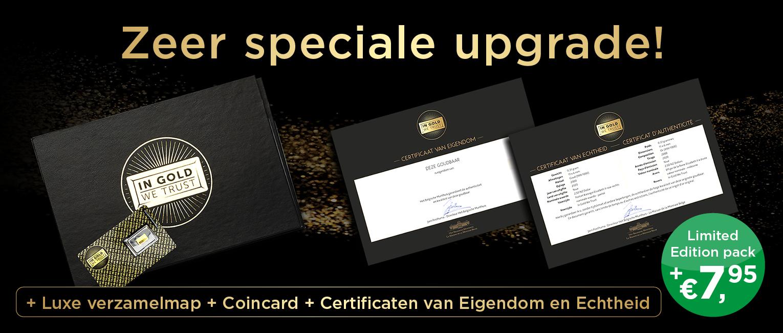 Kies voor het extra luxe Limited Edition 'Collector Pack'