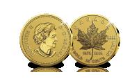 De legendarische massief gouden Canadese Maple Leaf in de jubileum editie ter ere van het 40-jarig bestaan.