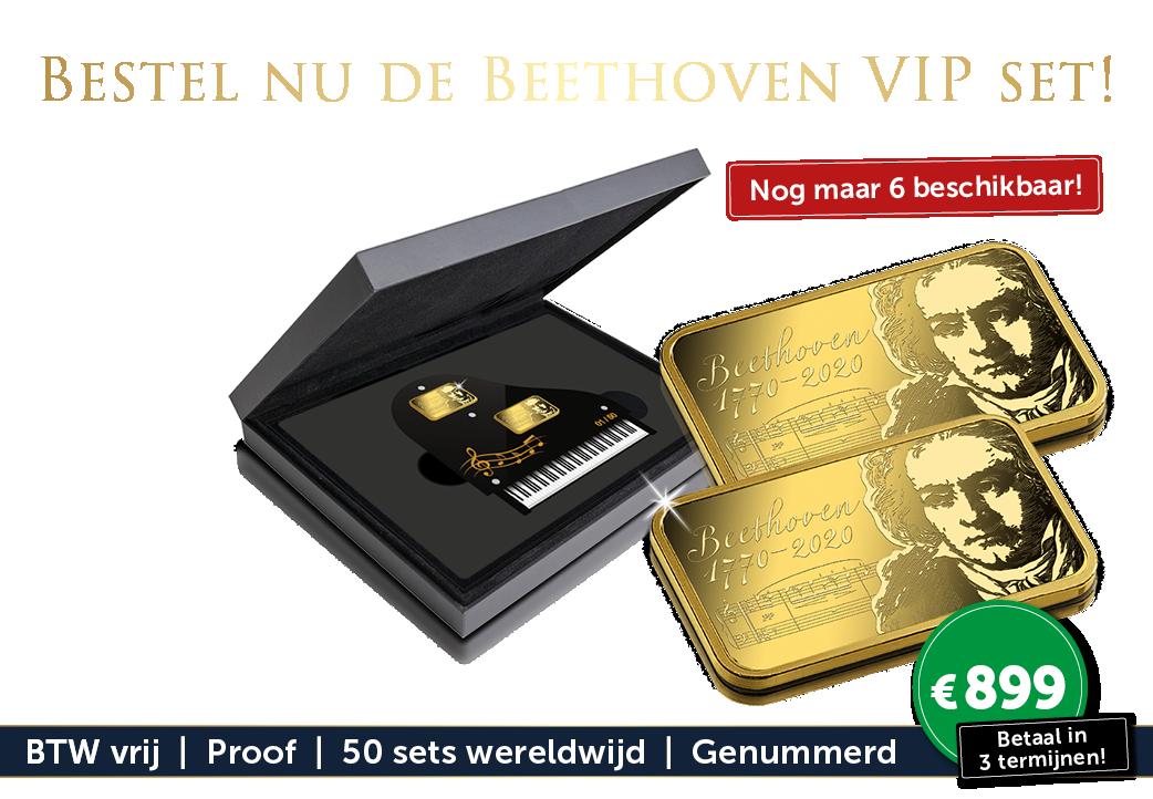 De 250ste Geboortedag van Beethoven geëerd met een set in 7.5 gram puur goud!