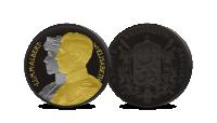 herdenkingsuitgifte, Dubbelportret Albert en Elisabeth, 3 edelmetalen