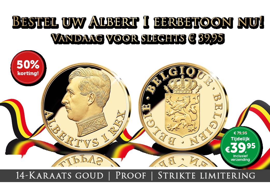 Gouden Albert I nu € 39,95 | = 50% korting!