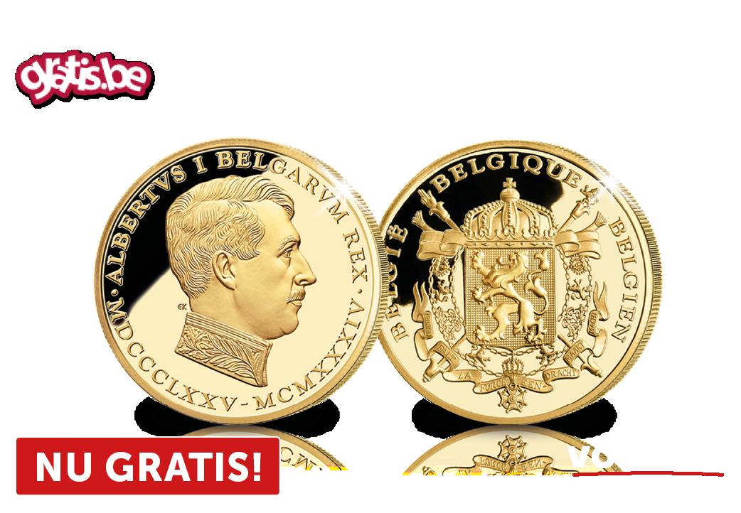 Onze Koning-Soldaat puur 24-karaats goud verguld