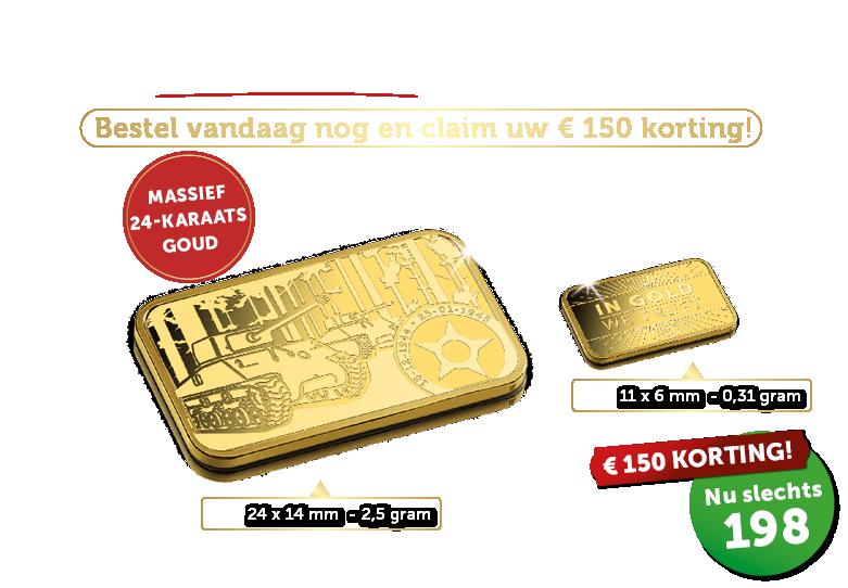De Limited Edition goudbaar Slag om de Ardennen, BTW-vrij