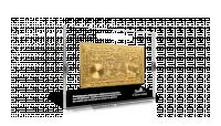 Bankbiljetten 100 Frank en 500 Frank Set, Magritte, Albert en Elisabeth, Verguld