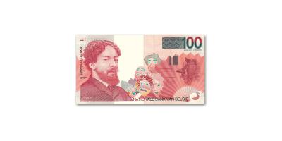 Het 'Collectors Edition' 100 Belgische Frank bankbiljet