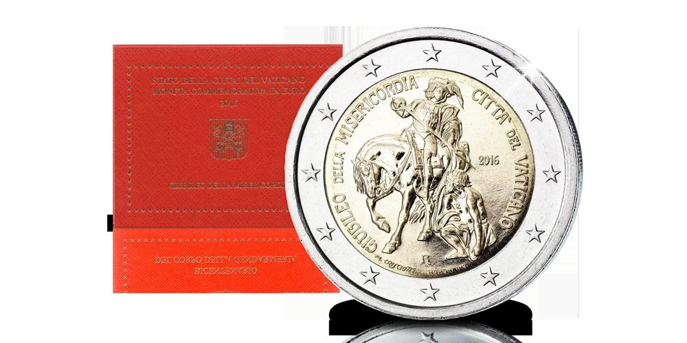 Uit Vaticaanstad - € 2 Herdenkingsmunt, Jaar van de Barmhartigheid
