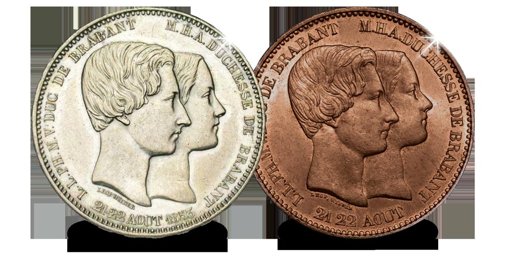 belgisch erfgoed uit 1853, Dubbelportret Leopold en Maria Hendrika, Leopold 1