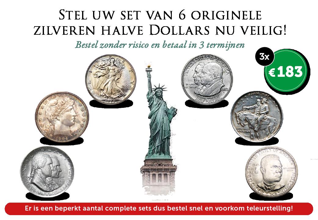 Nieuwe set van 6 historische halve Dollars