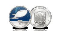 Blauwe Vinvis, Officiele munt van het WWF, Zwaar verzilverd