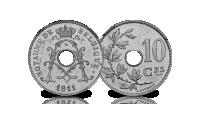 5 centiemen set Albert 1, 1910-1932, 10 centiem