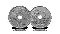 5 centiemen set Albert 1, 1910-1932, 25 centiem