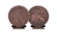5 centiemen set Albert 1, 1910-1932, 2 centiem