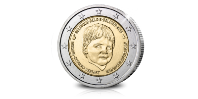 €2-Herdenkingsmunt Child Focus in Officiële blister