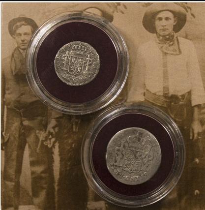 2-deligde zilveren Reales uit 1772-1821 | Het originele en eerste cowboy munten
