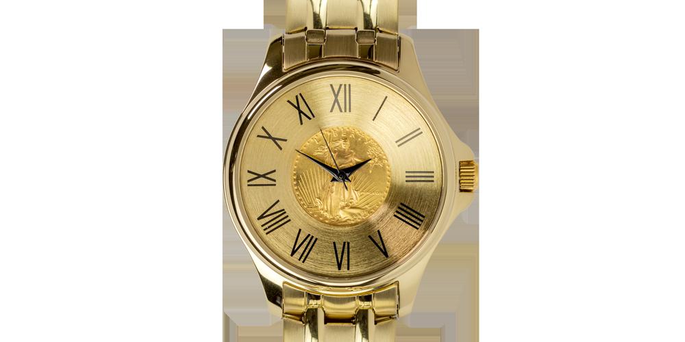 Koop munten online - Juwelen - 1/10Oz gouden Eagle dames horloge 1