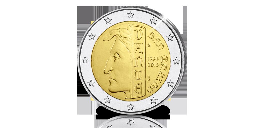 De befaamde Italiaanse dichter Dante heeft zijn eigen €2!
