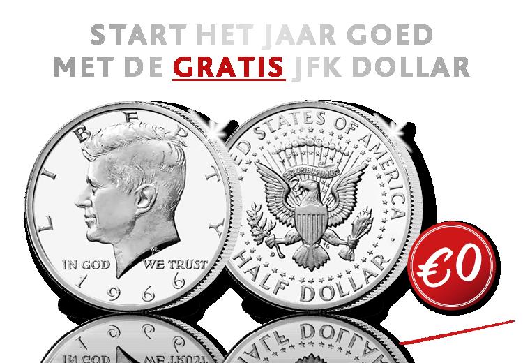 De originele half Dollar Kennedy