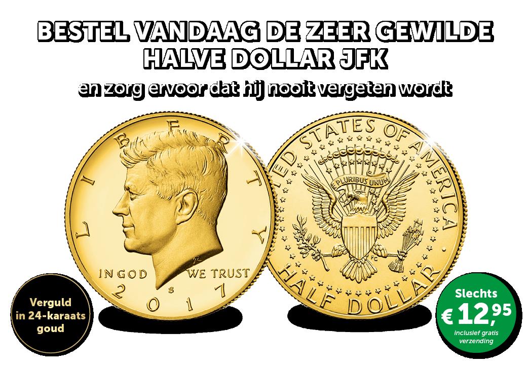 De zeer gewilde populaire halve Dollar JFK