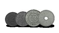 Dé 4 Groote Oorlogs-centen, Munten geslagen tijdens de Groote Oorlog