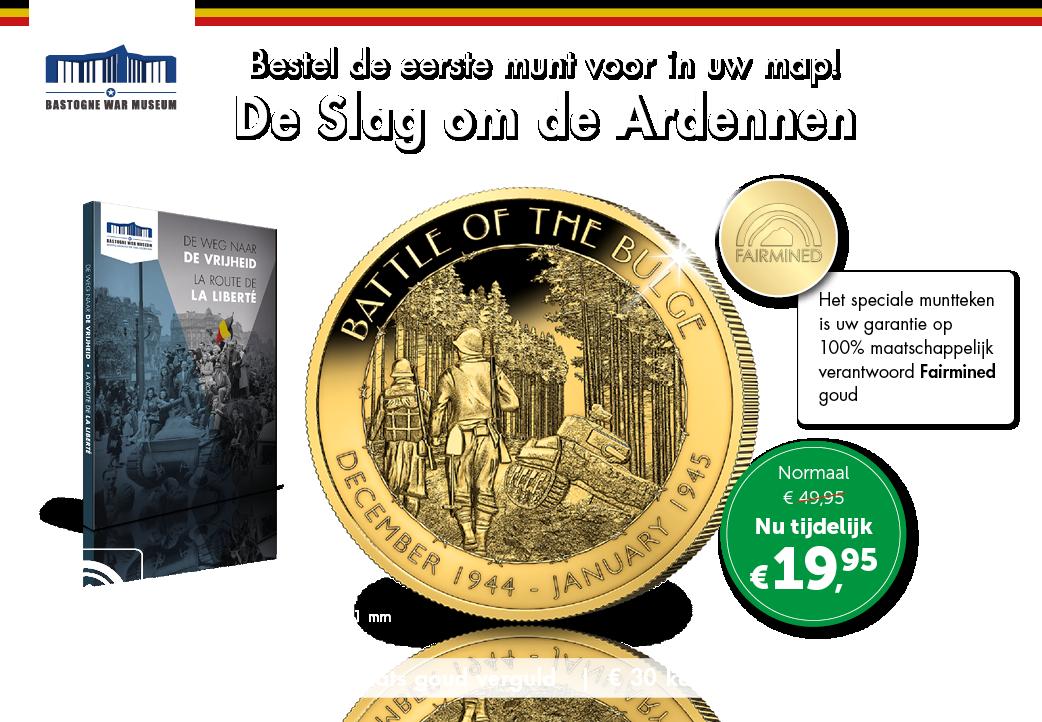 De Slag om de Ardennen munt voor in uw map!