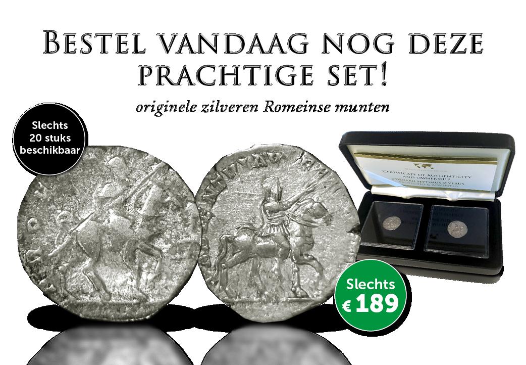 Prachtige set van 2 originele Romeinse munten!