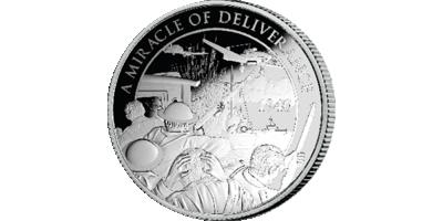 Uw puur zilveren Herdenkingsmunt ter ere van de Slag om Duinkerken