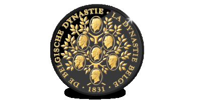 Ter ere van de Belgische Dynastie: Ltd Edition Stamboom in zwartgoud