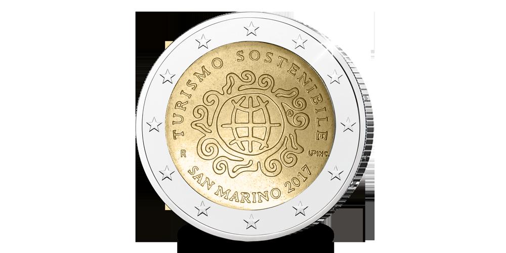 Exclusieve € 2 munt uit San Marino ter ere van Duurzaam Tourisme  uitgegeven in 2017