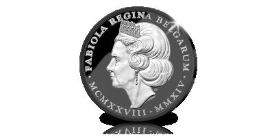 Koningin Fabiola in memoriam - zeldzaam zwart gouden uitgifte