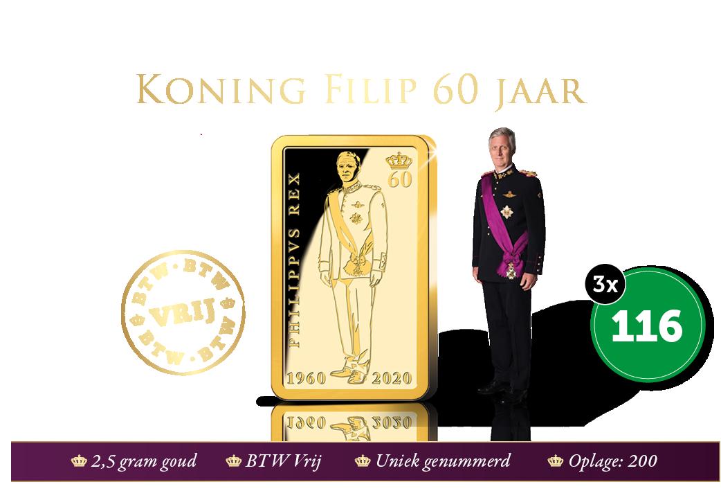 Staatsieportret ter ere van 60 jaar Koning Filip