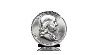Amerikaanse zilveren Dollar - Benjamin Franklin  - Zeer fraai