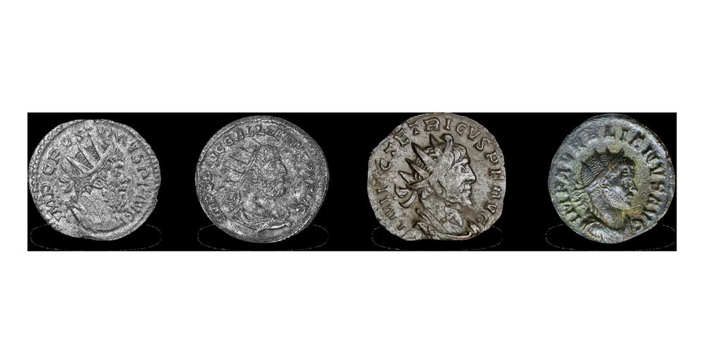 Koop munten online - Historische munten - Gallic Empire Set voorzijdes