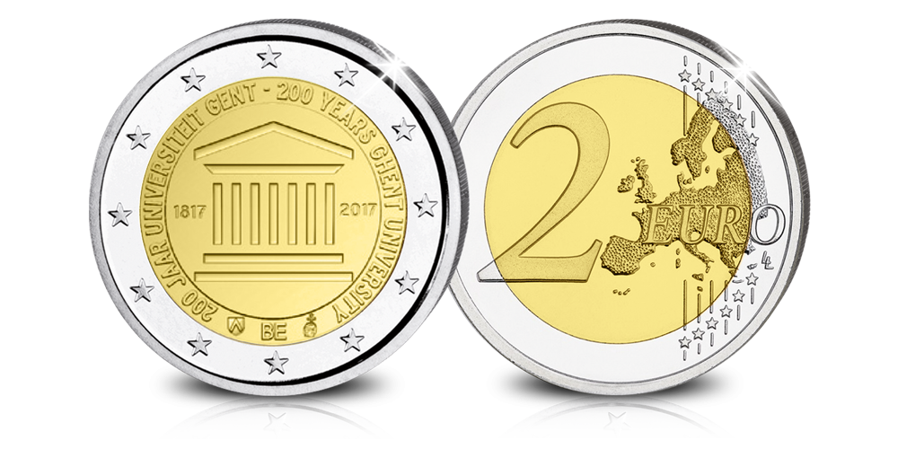Herdenkingseuro 2017 Gent, Brilliant uncirculated