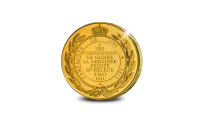 Vergulde herslag van de originele St. Helena medaille op reusachtig formaat keerzijde