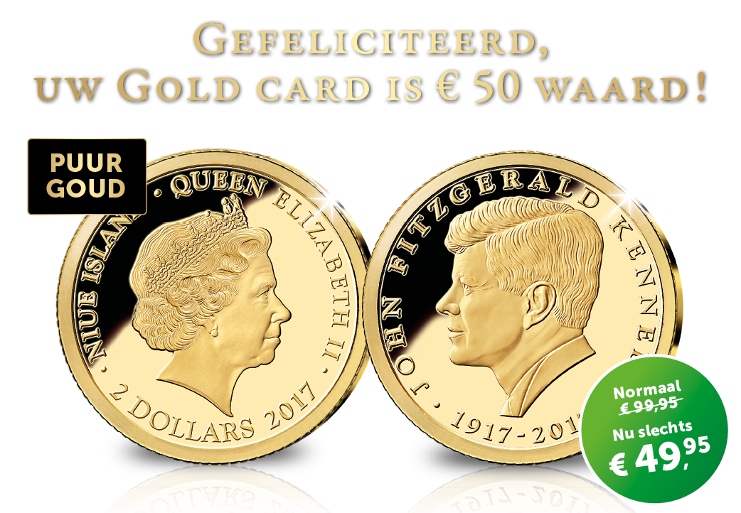 Gefeliciteerd, uw Gold card is € 50 waard!