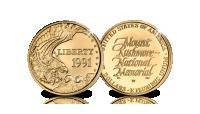 Mount Rushmore, 5 dollar, Puur gouden munt