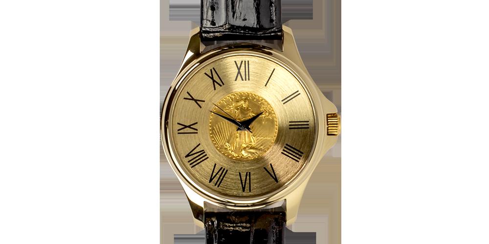 Koop munten online - Juwelen - 1/10Oz gouden Eagle horloge 1
