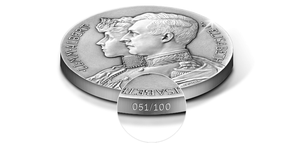 heruitgave van de zilveren herdenkingsuitgifte, Dubbelportret van Albert I en Elisabeth