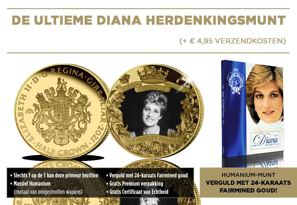 De Humanium Diana Herdenkingsmunt