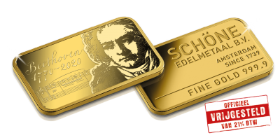 Beethoven VIP-set in puur goud